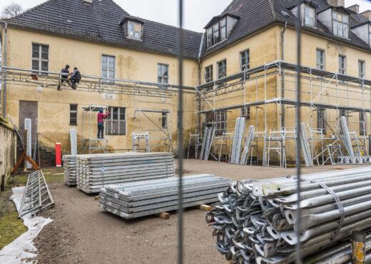 Beginn der Dachsanierung
